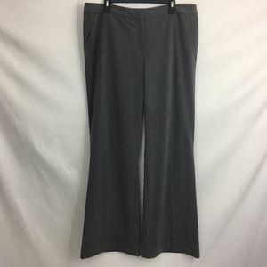 NY & Co Dark Grey Cuff Bottom Trousers Sz 16 Tall